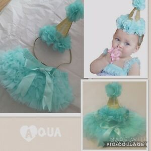 Image Is Loading Baby Girls 1st First Birthday Cake Smash Outfit