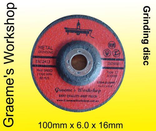 Grinding disc Wheel  .100mm  BOX of 25