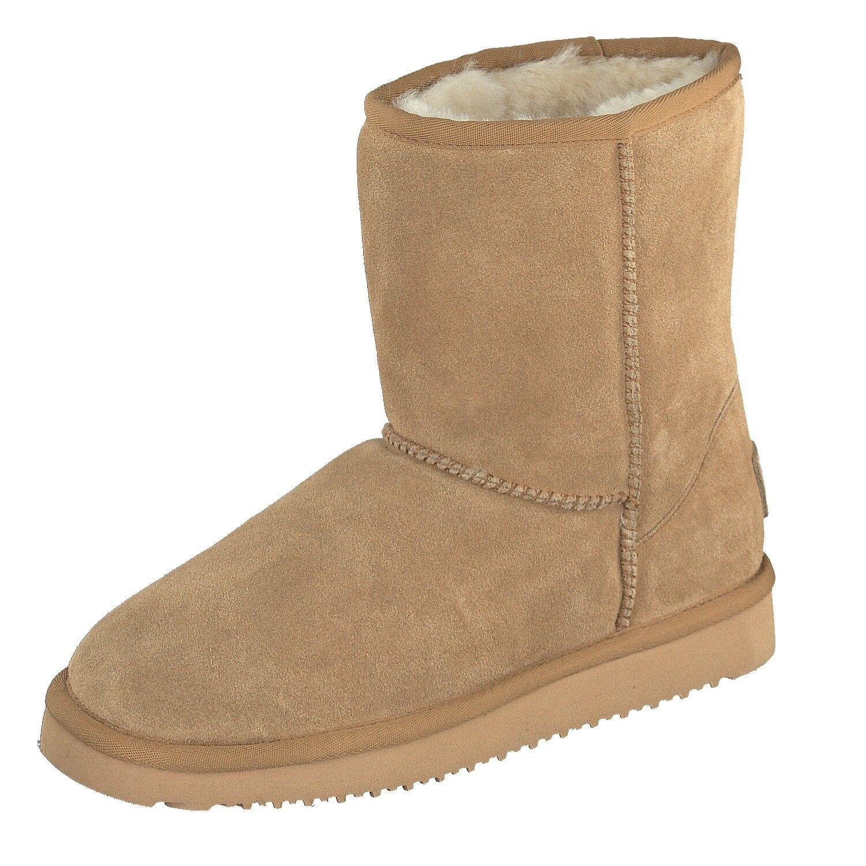BLK1978 Damen Schuhe Winter High-Cut Stiefel 264-533 Lammfell gefüttert Chestnut