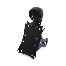 Side Mount Grill Front Motorbike Stop Tail Light & Number License Plate Holder