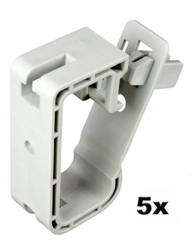 15 Leitungen 3x1,5mm² lichtgrau max 5x Kabel Kabelhalter Sammelhalter für ca