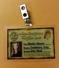 Harry Potter ID Badge - Gryffindor House Ginny  Weasley cosplay prop costume