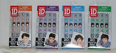 1D One Direction 20 pc Stick-On Nails - Differant Designs *New