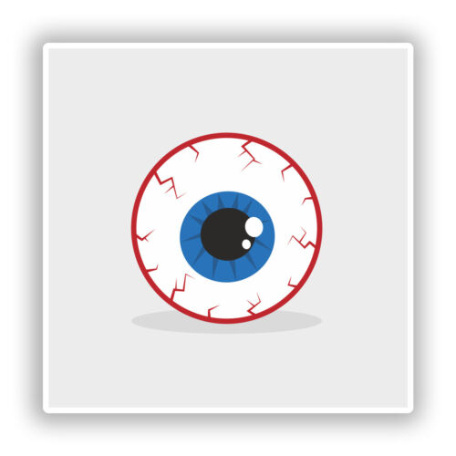 2 x Creepy Eye Vinyl Stickers Travel Luggage Halloween #10172