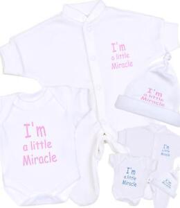 BabyPrem Baby 2 little miracle Preemie Clothes Bodysuits Vests 1.5-3.5lb Pink