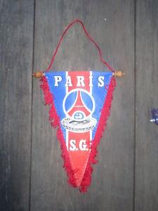 809e1c907d1a Fanion PSG PARIS SAINT-GERMAIN vintage pennant années 80 ancien logo ...
