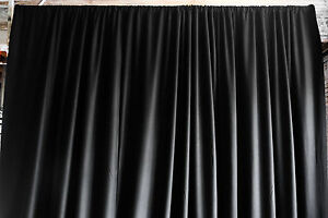 SOUND and LIGHT BLOCKING PIPE POCKET CURTAINS - 22oz Avora 9'T x 15'W Black