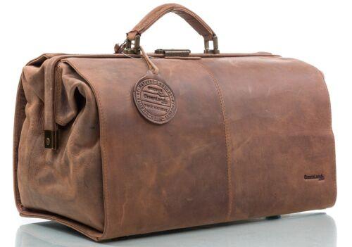 Doctor bolso bolso médico hebammentasche Greenland nature búfalos de cuero 40 cm OVP