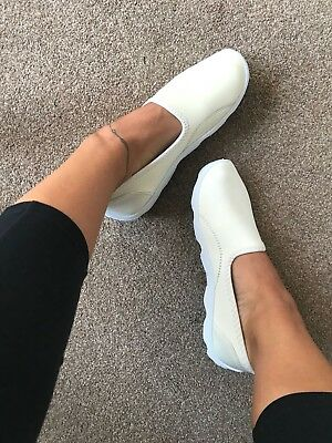 Pink Trainers Daps Slip on Gym Pumps Plimsoll Sneakers Comfort Light Shoes