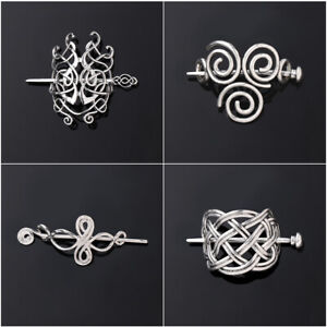 New-Large-Celtics-Knots-Crown-Women-Hairpins-Hair-Clips-Stick-Slide-Accessories