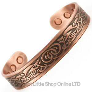 New-COPPER-MAGNETIC-Bracelet-VIKING-DESIGN-6-Magnets-Health-Rare-Earth-NdFeB