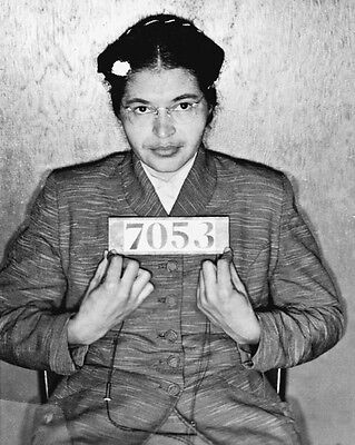 1955 Woman Activist ROSA PARKS Mugshot Glossy 8x10 Photo Print Poster