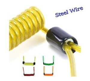 Yellow XTRM DISC LOCK REMINDER CABLE FOR MOTORCYCLE MOTORBIKE SCOOTER BIKE USE by 3C Evolution
