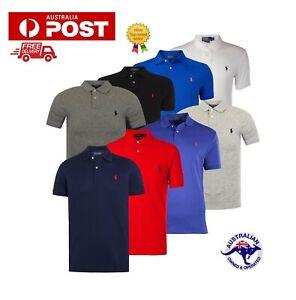 Polo Ralph Lauren Original Men's T-shirt Collar Neck Custom Fit ...