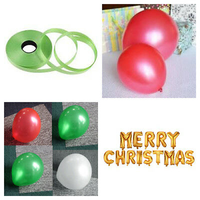 """10/"""" latex red /& green xmas balloons for decoration helium choose pack 25-100"""