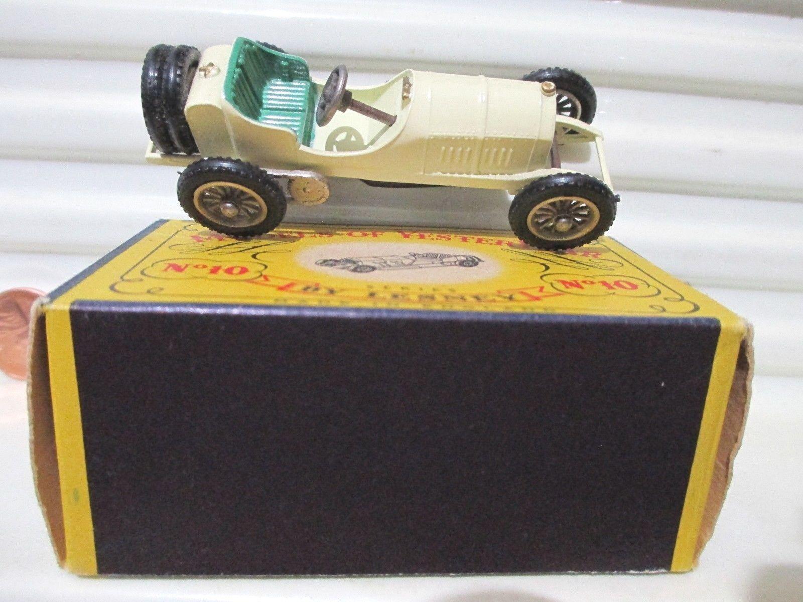 Matchbox 1958 Models of Yesteryear Y10 1908 Cream +LtGrn TYPE 1 SEATS MERCEDES