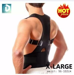 DUNSPEN-XLarge-Adjustable-Support-Brace-Posture-For-Lower-and-Upper-Back-Pain