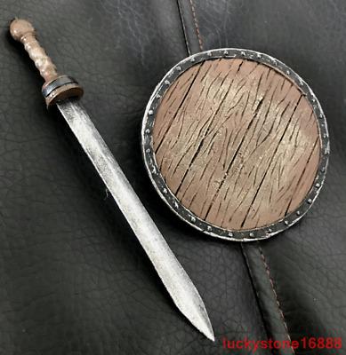 1//6 Scale Weapon Accessories Model Plastic Roman Gladiator Training Sword+Shield