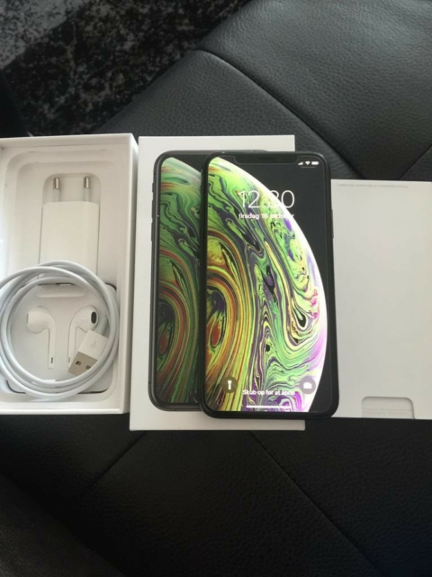 iPhone XS, 64 GB, sort, Perfekt, Perfekt stand uden…