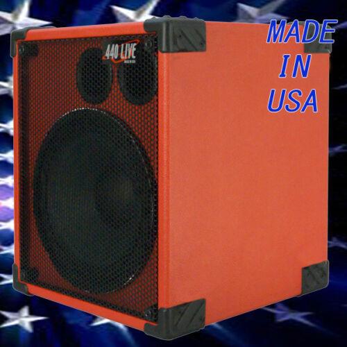 1X12 Bass Guitar Speaker Cabinet 350W 8 Ohms Fire Red tolex 440LIVE BG1X12S UR