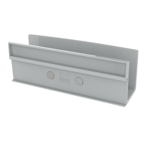 Sigel Ablagefach GL813 für Glas Magnetboard Stifte Ablage Board Tafel grau