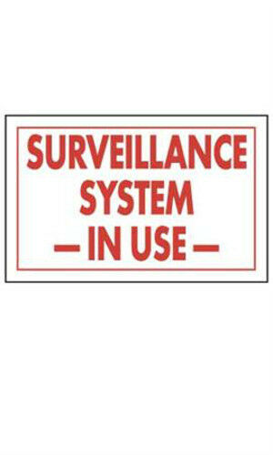 "Count of 10 Surveillance System In Use Policy Sign 11""W x 7""H"