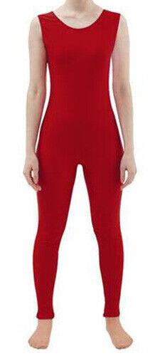 Lycra Spandex Sleeveless Bodysuits Dancewear BodySuit Gymnastics Yoga Unitard