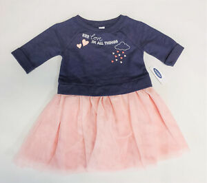 NWT-Old-Navy-Girls-Size-18-24-Months-2t-3t-4t-Pink-Blue-Heart-Tulle-Tutu-Dress