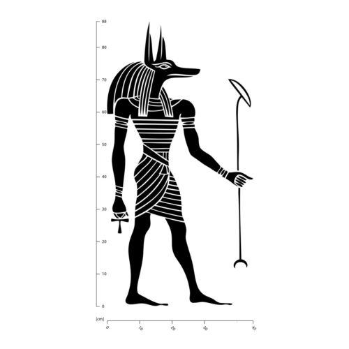 Ägyptische Anubis Antikes Ägypten Wandtattoo WS-18422