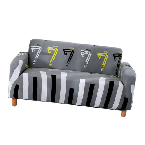 2 Seater Elastic Sofa Slipcover Stretch Couch Cover Protector Anti-slip