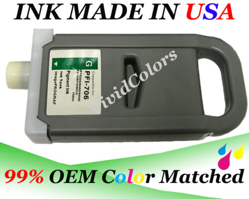 700ml PFI706 Green New Compatible ink cartridge for Canon ipf8400 PFI706 GN