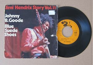 JIMI-HENDRIX-JOHNNY-B-GOODE-BLUE-SUEDE-SHOES-7-034-PS-FRENCH-1971-BARCLAY