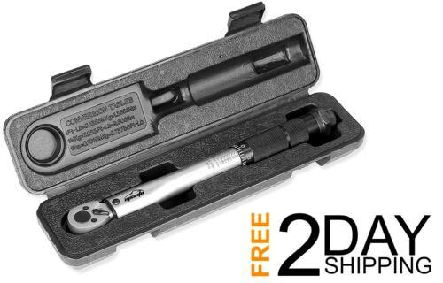 2.26~22.6 Nm EPAuto Portable 1//4 Inch Drive Click Torque Wrench lb 20-200 in