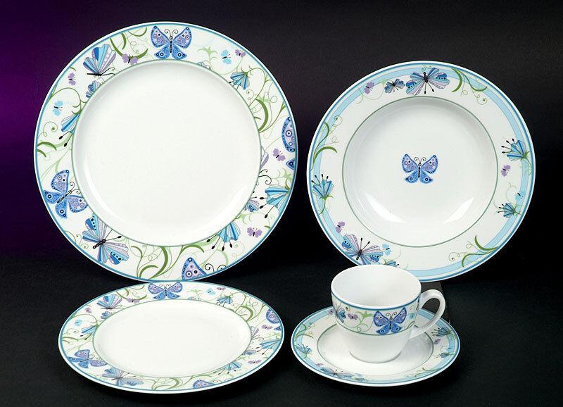 Nadia décor Combi service 6 personnes 37 pièces porcelaine vaisselle set Nouveau environ