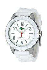 Lacoste Rio Stainless Steel White Silicone Womens Fashion Strap Watch 2000689
