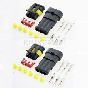 2x superseal 3 polig stecker steckverbinder wasserdicht f r auto kfz boot ebay. Black Bedroom Furniture Sets. Home Design Ideas
