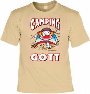 T Shirt Camping Gott Lustiges Spruche Shirt Geschenk Camper Mit