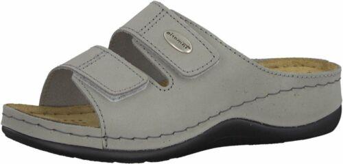 Schuhe 200 11 Leder Grau Pantolette Damen 27510 Lea Tamaris RnSq74In