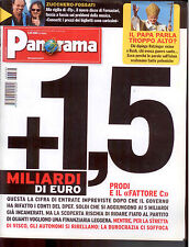 D5  PANORAMA N. 38 SETT 2006 - IN COPERT. PAPA RATZINGER - ZUCCHERO E FOSSATI