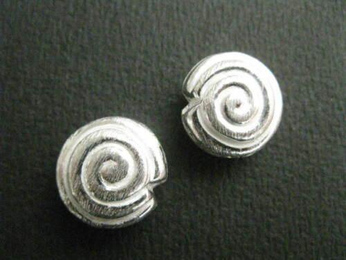 "1 Metallperle /"" Schnecke /"" 16x9mm silber gebürstet 4991"