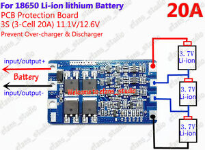 3S 25A 12V BMS 18650 Li-ion Lithium Battery Lipo Charging Protection Board TE910
