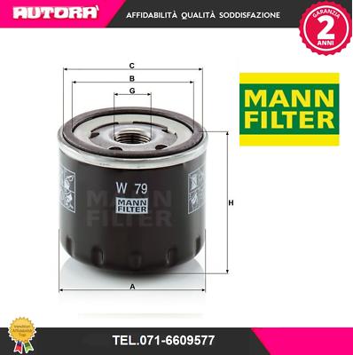 Per Automobili Originale MANN-FILTER Filtro Olio W 79