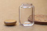 1:12 Hexagonal Glass Storage Jar Dolls House Miniature Kitchen Accessory Mr1st