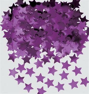 (1,7€/10g) Konfetti STERNE lila Tisch Dekoration Silvester Party Streumaterial