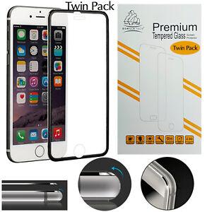 Metal-Edge-iPhone-6S-Plus-6-Plus-Black-Twin-Pack-Gorilla-Tempered-Glass-Screen