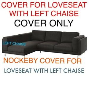 Superb Details About Ikea Nockeby Cover Slipcover For Loveseat Sofa With Left Chaise Teno Dark Gray Ibusinesslaw Wood Chair Design Ideas Ibusinesslaworg