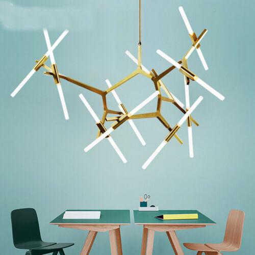 Industrial Modern Metal Acrylic Branch Chandelier Pendant Light Ceiling Fixtures
