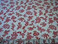 3 Yards Quilt Cotton Fabric- Lakehouse Holly Holderman Red & White Lover Birds W