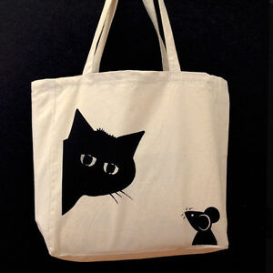 Image Is Loading Screen Printed Tote Bag Kaboo Design Made In