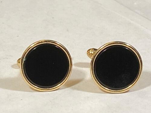 Cufflinks vintage with natural stone golden tone cufflinks cuff links set 1960s husband father man mens gift Men golden stone cuff links